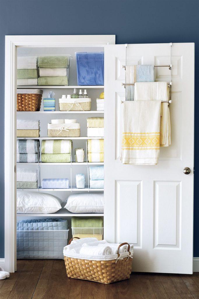 towel bars linen closet organization 1544044941